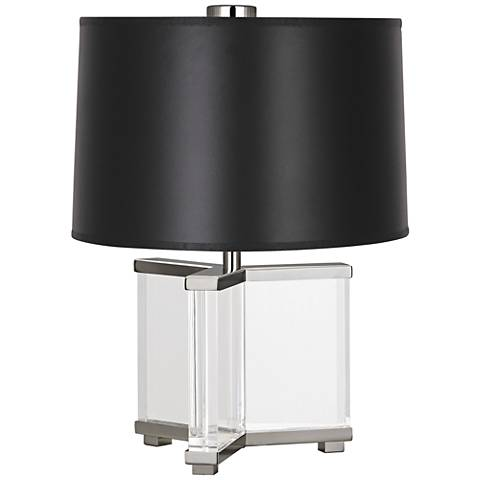 Robert Abbey Fineas Polished Nickel/Opaque Black Accent Lamp