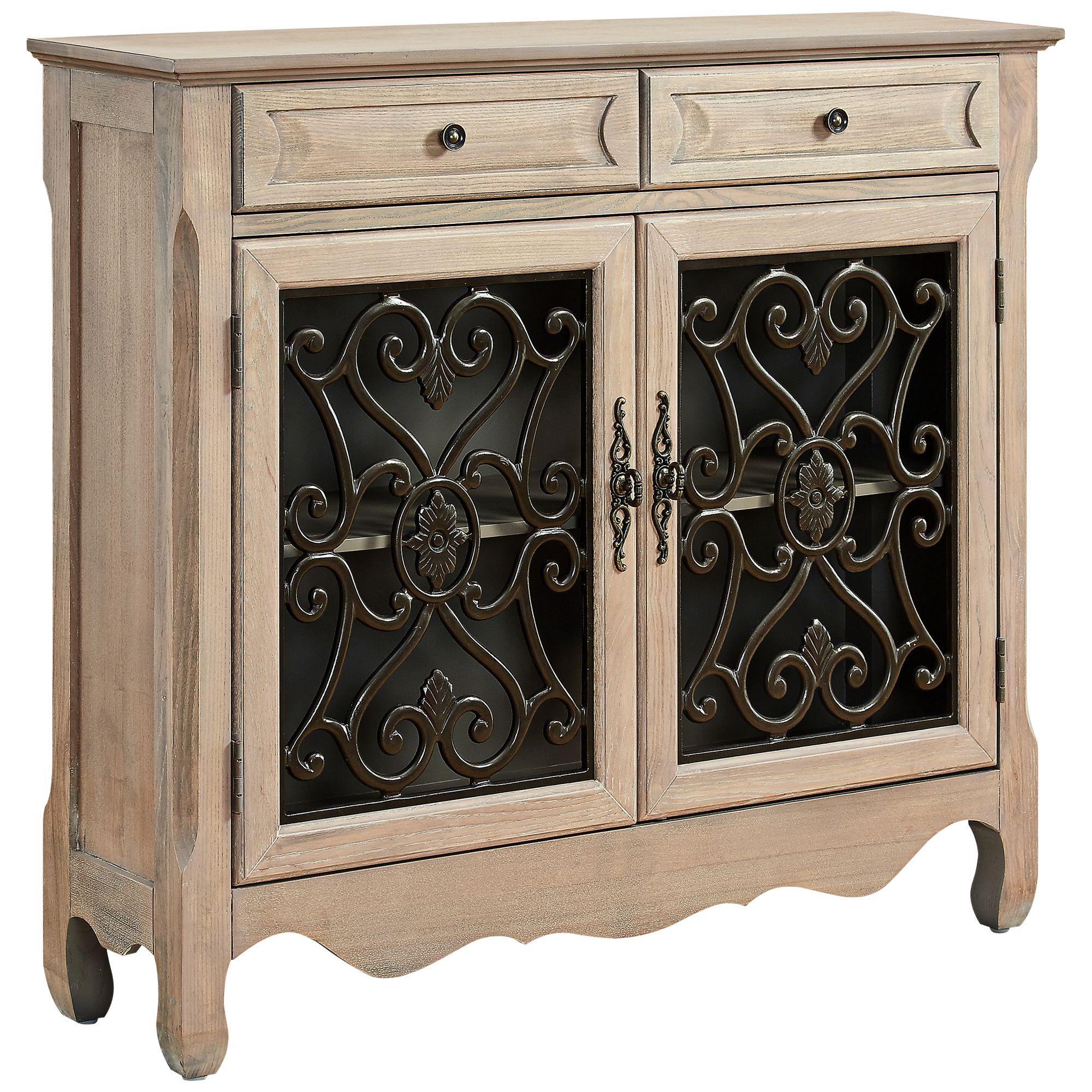 Maravilla 2 Door 2 Drawer Natural Console Cabinet