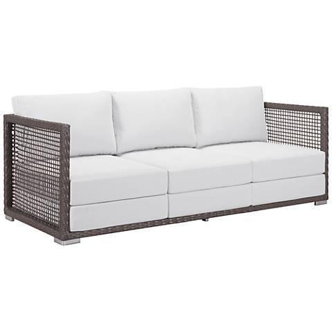 Zuo Coronado Brown and Light Gray Outdoor Sofa