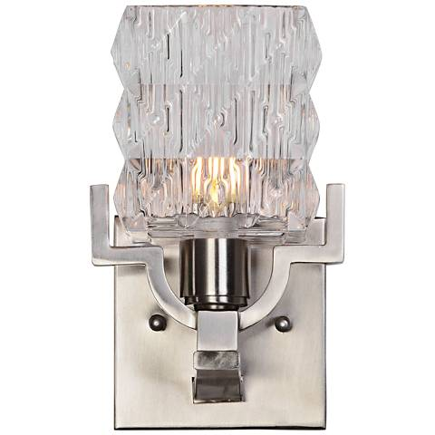 "Uttermost Copeman 9"" High Brushed Nickel Wall Sconce"