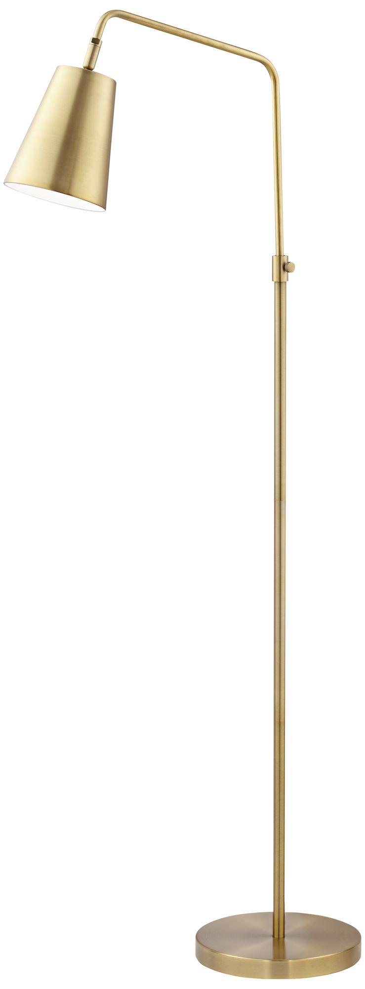 zella brushed antique brass downbridge floor lamp
