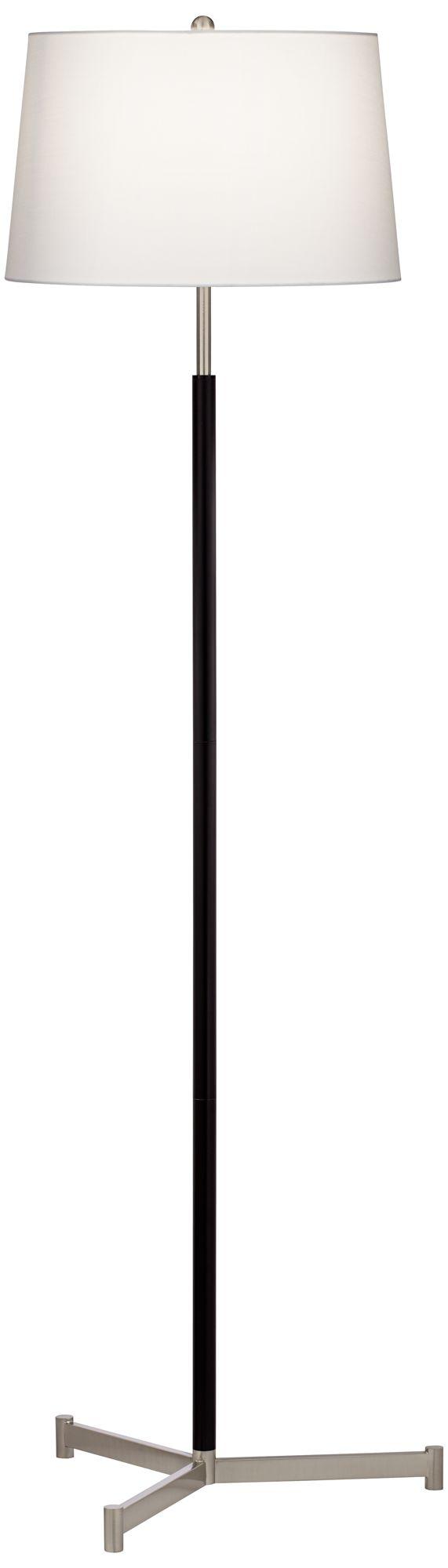 aristo black stick metal modern floor lamp