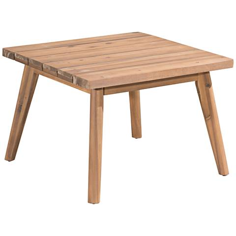 Zuo Grace Bay Natural Wood Outdoor Side Table