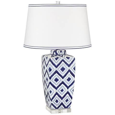 Esia Cool Puff White Quilt Ceramic Table Lamp