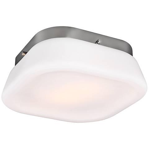 """Feiss Saul 13"""" Wide 2-Light Chrome Ceiling Light"""