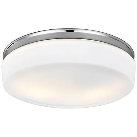 """Feiss Issen 13 1/2"""" Wide 2-Light Chrome Ceiling Light"""
