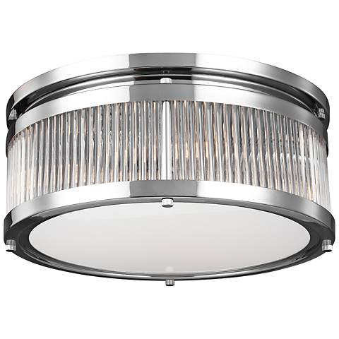 "Feiss Paulson 15"" Wide 3-Light Chrome Ceiling Light"