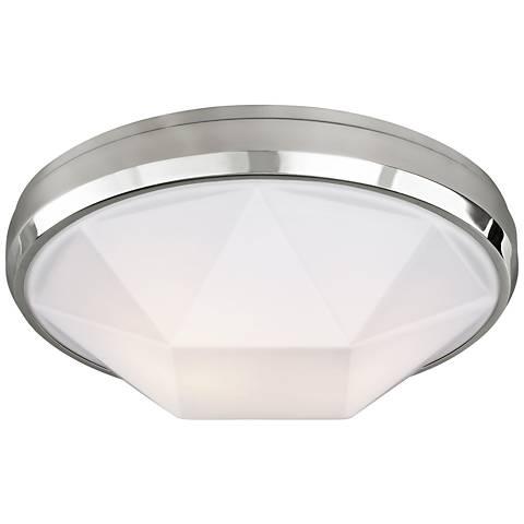 """Feiss Gillis 15"""" Wide 2-Light Chrome Ceiling Light"""
