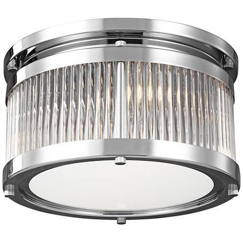 """Feiss Paulson 11"""" Wide 2-Light Chrome Ceiling Light"""