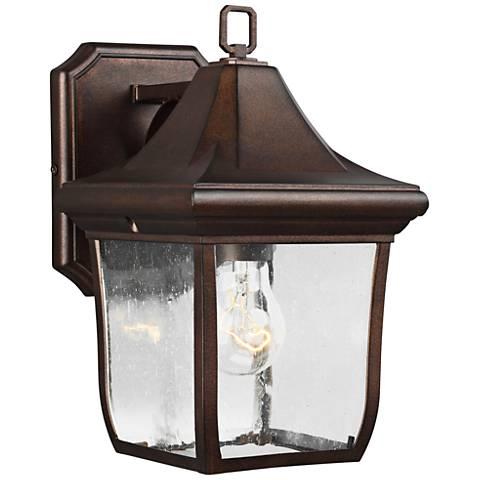 """Feiss Oakmont 10 3/4"""" High Patina Bronze Outdoor Wall Light"""