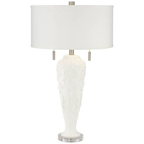 Fondant Himalaya Snow White Modern 2-Light Table Lamp