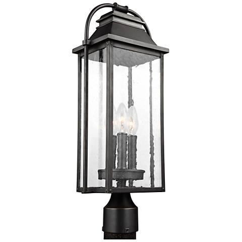 """Wellsworth 20 3/4"""" High Bronze 3-Light Outdoor Post Light"""