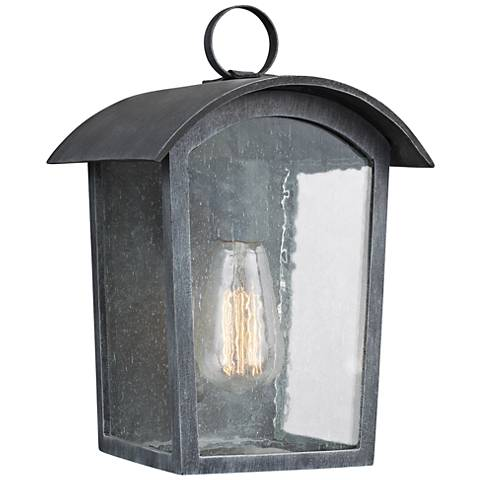 "Feiss Hodges 11 3/4"" High Ash Black Outdoor Wall Light"