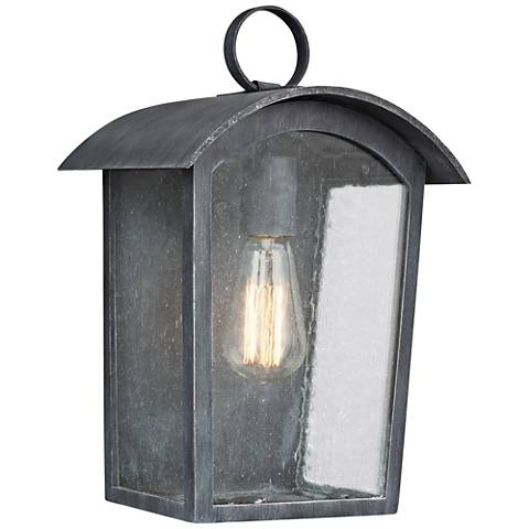 "Feiss Hodges 13 3/4"" High Ash Black Outdoor Wall Light"