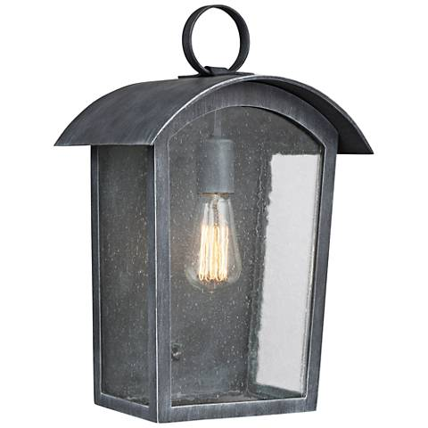 "Feiss Hodges 16 1/4"" High Ash Black Outdoor Wall Light"