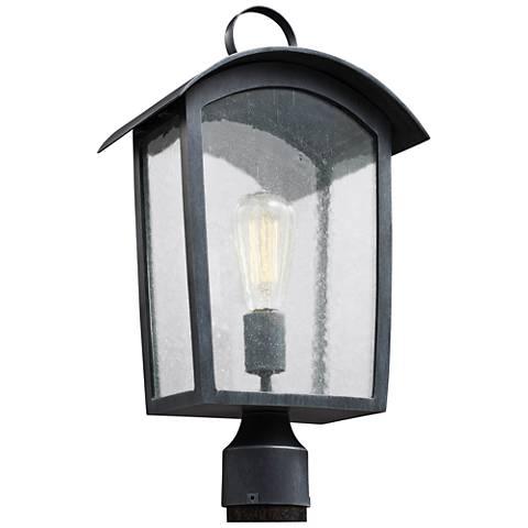 "Feiss Hodges 19 3/4"" High Ash Black Outdoor Post Light"