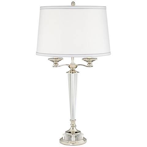 Vonto Polished Nickel 2-Light Candelabra Table Lamp