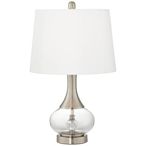 Wynn Brushed Nickel Double-Glass Table Lamp Set of 2