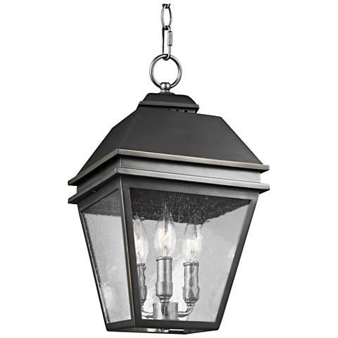 "Herald 9 1/2"" High Bronze 3-Light Outdoor Hanging Light"