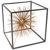 """Taurus Gold 9 1/4"""" High Metal Starburst Table Sculpture"""