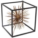 """Taurus Gold 7"""" High Metal Starburst Table Sculpture"""