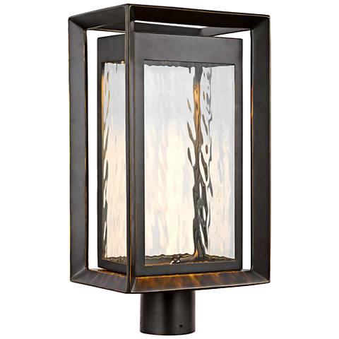 Urbandale 18 34 high antique bronze led outdoor post light urbandale 18 34 high antique bronze led outdoor post light sciox Images