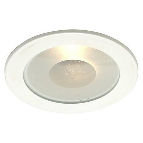 """Juno 4"""" Line Voltage Frosted Lens Shower Recessed Light Trim"""