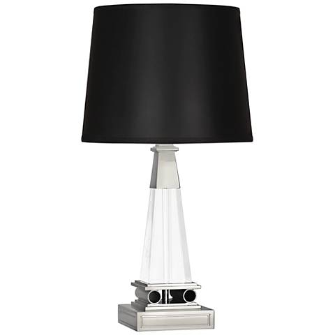Robert Abbey Darius Black Parchment Tapered Nickel Accent Lamp