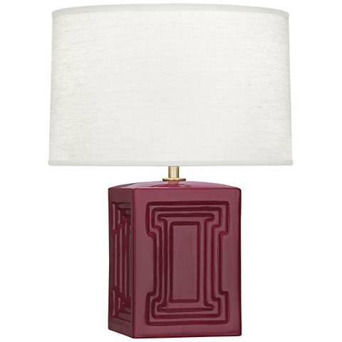 """Nottingham 18 1/4""""H Plum Ceramic Accent Lamp"""