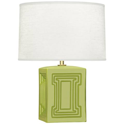 "Nottingham 18 1/4""H Green Ceramic Accent Lamp"