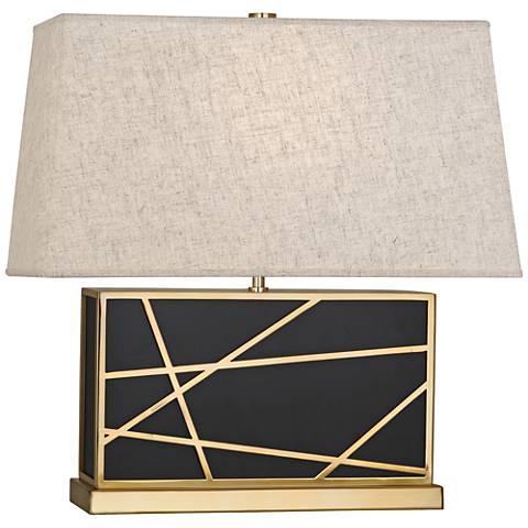 Robert Abbey Michael Berman Bond Wide Bronze-Heather Table Lamp