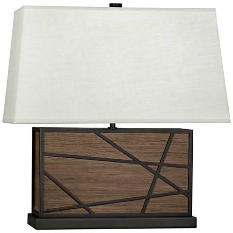 Robert Abbey Michael Berman Bond Wide Walnut-Oyster Table Lamp