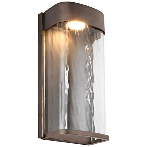 """Feiss Bennie 12"""" High Antique Bronze LED Outdoor Wall Light"""