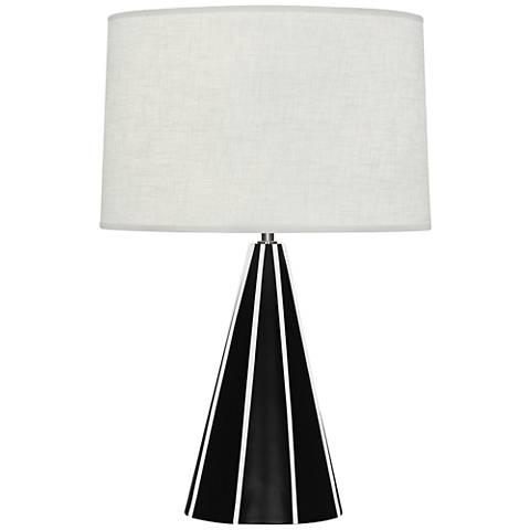Robert Abbey Monique Matte Black and White Table Lamp