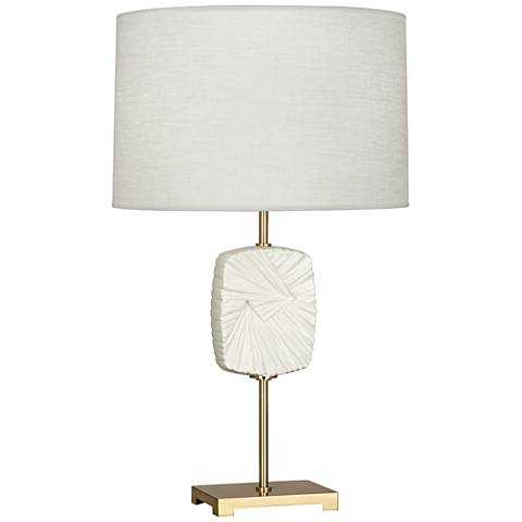 Michael Berman Alberto Flat Lily Modern Brass Table Lamp