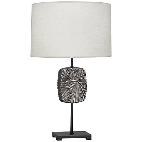 Michael Berman Alberto Antique Silver and Bronze Table Lamp