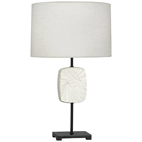 Michael Berman Alberto Flat Lily Patina Bronze Table Lamp
