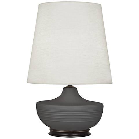 Michael Berman Nolan Bronze and Ash Ceramic Table Lamp