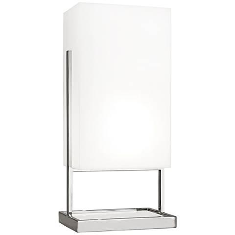 Robert Abbey Nikole Nickel and White Acrylic Table Lamp