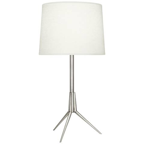 Robert Abbey Martin Polished Nickel Metal Table Lamp
