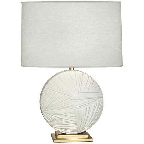 Michael Berman Frank Flat Lily with Modern Brass Table Lamp