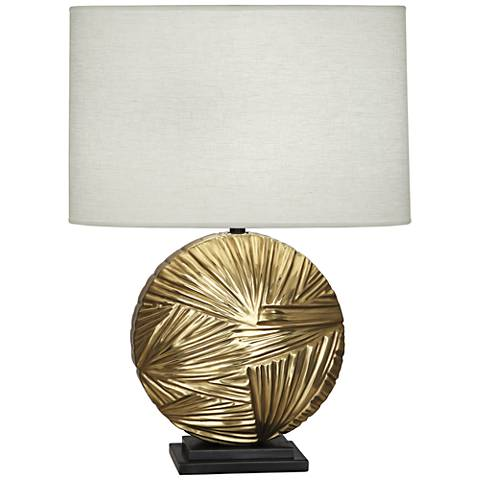 Michael Berman Frank Modern Brass with Bronze Table Lamp