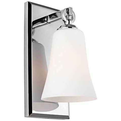 "Feiss Monterro 10 1/2"" High Opal Chrome Wall Sconce"