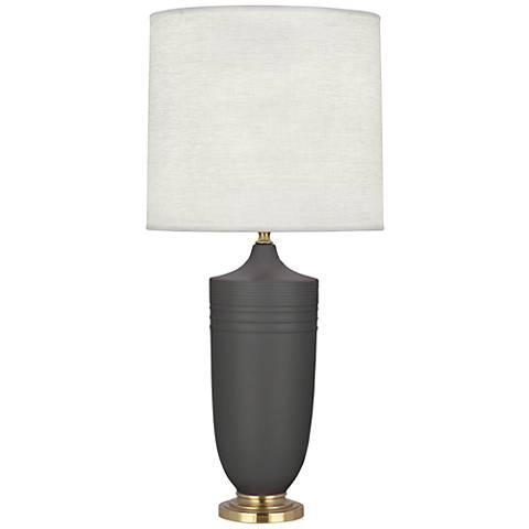 Michael Berman Hadrian Brass and Ash Ceramic Table Lamp