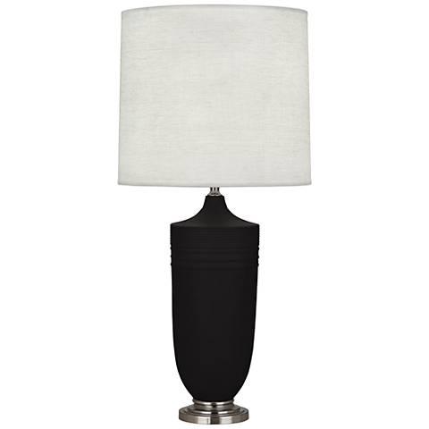 Michael Berman Hadrian Nickel and Coal Ceramic Table Lamp