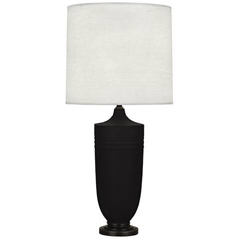 Michael Berman Hadrian Bronze and Coal Ceramic Table Lamp