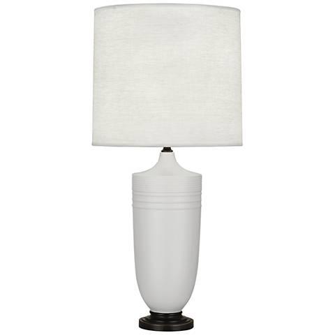 Michael Berman Hadrian Bronze and Gray Ceramic Table Lamp