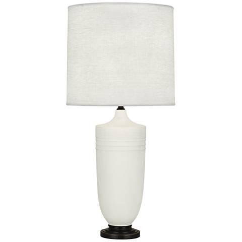 Michael Berman Hadrian Bronze and Lily Ceramic Table Lamp