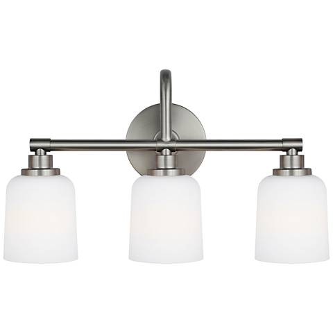 """Feiss Reiser 20 3/4"""" Wide 3-Light Satin Nickel Bath Light"""