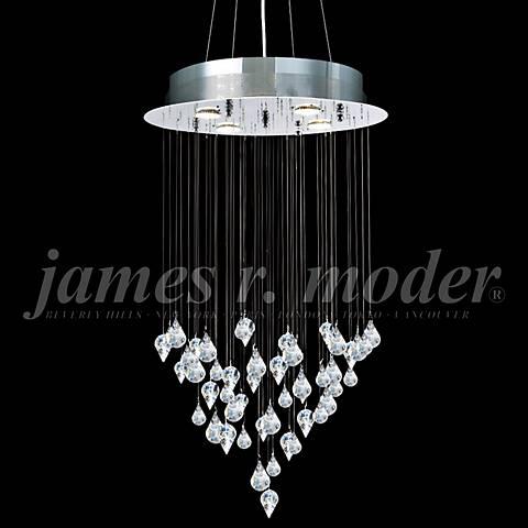 """James Moder Medallion 19"""" Wide Silver 4-Light Chandelier"""